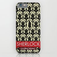 iPhone & iPod Case featuring Sherlock Poster 2 by Fabio Castro