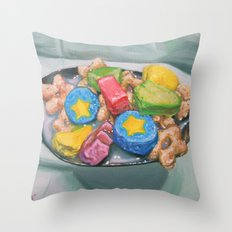 Marshmallow Cereal Throw Pillow