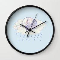 Rainy Cat Wall Clock