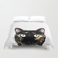 Peeking Cat Duvet Cover