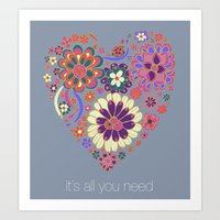LOVE It´s All You Need Art Print