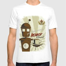 Robot Roast Mens Fitted Tee White SMALL