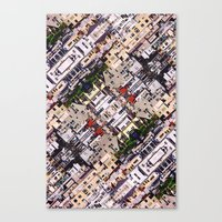 Scene Of City Structures Canvas Print