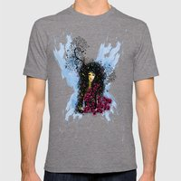 Butterfly Woman  Mens Fitted Tee Tri-Grey SMALL