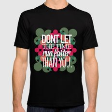FLOWER TIME Mens Fitted Tee Black SMALL