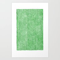 Stockinette Green Art Print