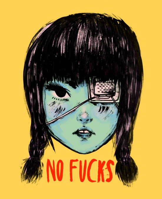 no fucks Art Print