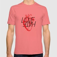 LOVE  –VS– HATE Mens Fitted Tee Pomegranate SMALL