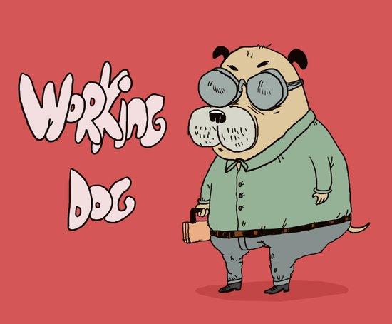 Working Dog Art Print