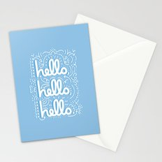 HELLO HELLO HELLO - light blue Stationery Cards