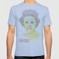 GOD SAVE THE QUEEN Mens Fitted Tee Athletic Blue SMALL