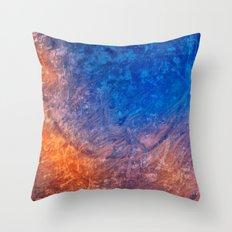 Vibrant Vintage Fantasy Throw Pillow