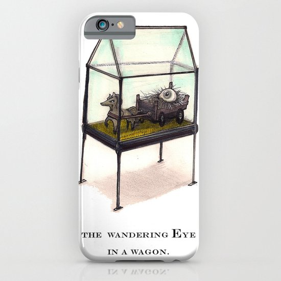 the wandering Eye in a wagon iPhone & iPod Case