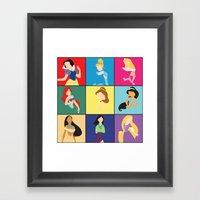 Original Princesses W/ R… Framed Art Print