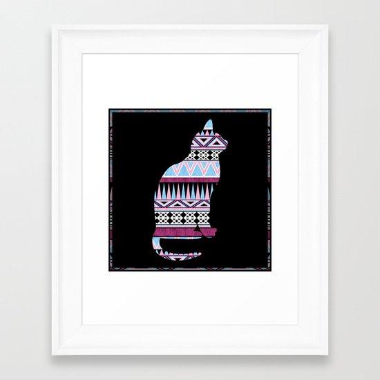 Fun & Fancy Kitty. Framed Art Print