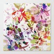 Multicolore Abstract Fuc… Canvas Print