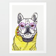 Stylish Doggy Art Print