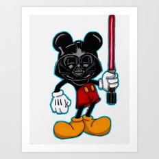 Darth Mouse Art Print