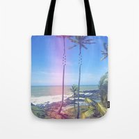 Fragmented Palm Tote Bag