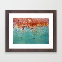 Teal Rust Framed Art Print