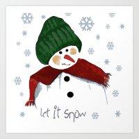 Let's Build A Snowman, L… Art Print