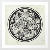 Cicrle Doodle Art Print
