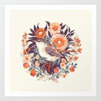 tea Art Prints featuring Wren Day by Teagan White