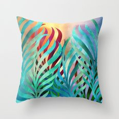 Tropical Palms Throw Pillow