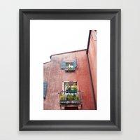 Venetian Windows Framed Art Print
