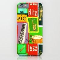 iPhone & iPod Case featuring RazzMaTazz Jazz Nite. by Sylvie Heasman