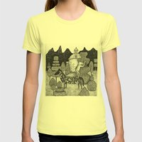 The Gardner Womens Fitted Tee Lemon SMALL