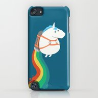 Fat Unicorn On Rainbow J… iPod touch Slim Case