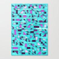 Angular Dimension Canvas Print