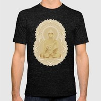 Gold buddha Mens Fitted Tee Tri-Black SMALL