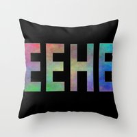 TEEHEE Throw Pillow