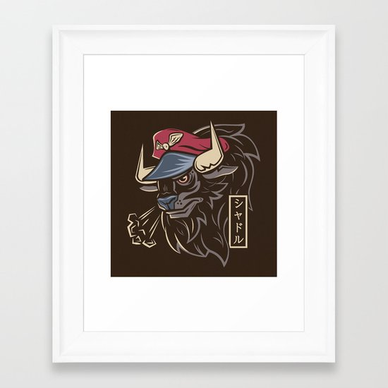 Master Bison Framed Art Print