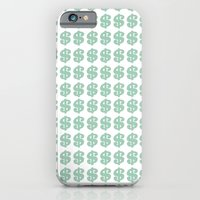 iPhone & iPod Case featuring Mint Money Repeat by Project M