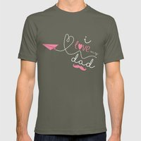 I love my dad Mens Fitted Tee Lieutenant SMALL