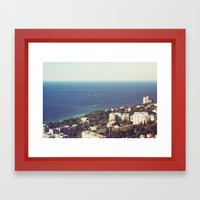 sea landscape Framed Art Print