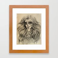 Sugar Skull Framed Art Print