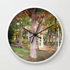 Trees at Wellesley  Wall Clock