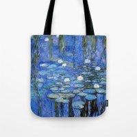 water lilies a la Monet Tote Bag