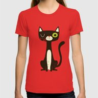T-shirt featuring Black Cat by Monster Riot