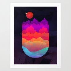 MOUNTAIN ESCAPE Art Print