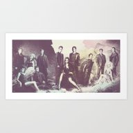 The Vampire Diaries TV S… Art Print