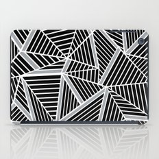 Ab lines Zoom Black and Silver iPad Case