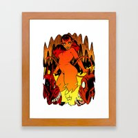 GO GO INFERNO Framed Art Print