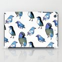 Painted Bird Repeat Pattern.  iPad Case