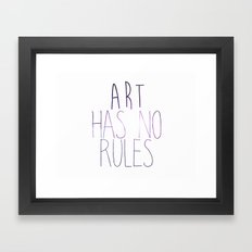 ART Rules2 Framed Art Print