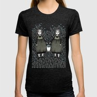 Blueberry Pickers Womens Fitted Tee Tri-Black SMALL